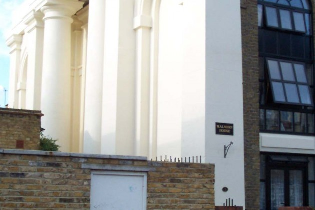 Exterior painting - three storey converted church